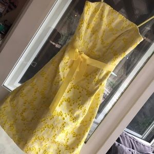 Lilly Pulitzer yellow & white floral eyelet dress